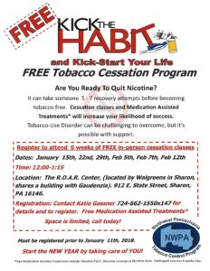 KICK the HABIT/ Smoking Cessation Program @ ROAR CENTER